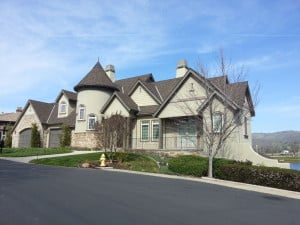 Exterior painting, large home
