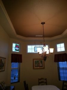 Tray ceilings work well with dark colors